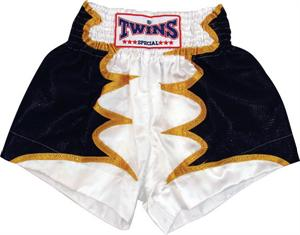 Twins Thai Style Trunks White Bat Wings